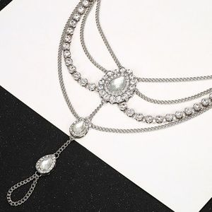 Jewelry - New Titanium Pair of Silver color barefoot sandals